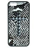 wildflower ( ワイルドフラワー ) ロサンゼルス の 斬新 な スネーク ファブリック iphoneケース スタッズ Snakeskin Black Studded Cross iPhone 5 5s Case クロス ケース ピラミッド カバー iphone5 iphone5s 海外 ブランド