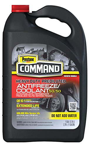 Prestone AFC11100-6PK Command Heavy Duty Extended Life 50/50 Antifreeze, 1 Gallon (Pack of 6) (Prestone Antifreeze 50 50 compare prices)