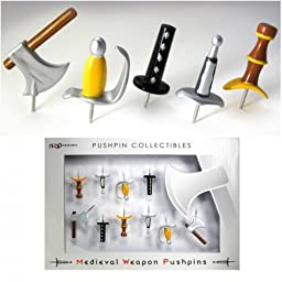 NUOP Medieval Weapons Pushpins