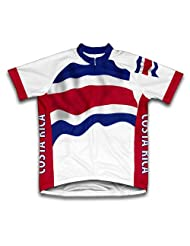 Costa Rica Flag Short Sleeve Cycling Jersey for Women