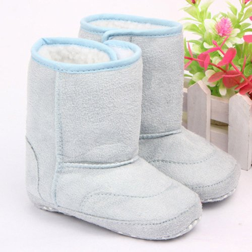 Cute Blue Baby Todler Girl Boy Soft Warm Snow Boots Winter Fur Shoes 13Cm front-792813