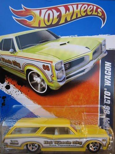 Hot Wheels Custom '66 GTO Wagon 3/10 HW City Works #119 (2011) Yellow - 1