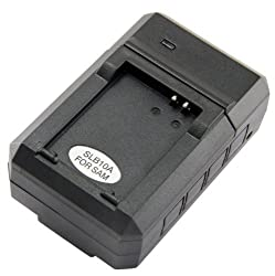 STK's Samsung SLB-10A Battery Charger - for Samsung WB150F, WB850F, WB750, P1000, SL202, L200, L100, EX2, SL620, SL420, SL102, SL502, L210, HZ10W, SL105, WB500, ES55, HZ15W, SL720, SL820, WB550, PL50, SL310W, L310W, M100, M110, L110, PL55, PL60, PL70 by S