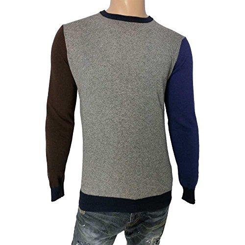 Maglia uomo MQJ 0857 16020 - Girocollo uomo 30% lana 35% viscosa 5% cashmere 30% poliamide made in italy, grigio XL