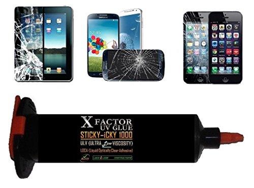 30Ml Loca Uv Glue - Xfactor Sticky-Icky1000® Professional Grade Liquid Optical Clear Adhesive - Ultra Low Viscosity 1000Mpa*S (Black Lightproof Tube) - Money Back Guarantee !!