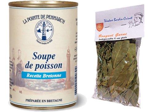 1 X French Breton Fish Soup From France-Soupe De Poisson Recette Bretonne La Pointe De Penmarch - 14,11 Oz - 2 Serves + 1 Sachet Of Bouquet Garni Théodore Bardin-Cuinet