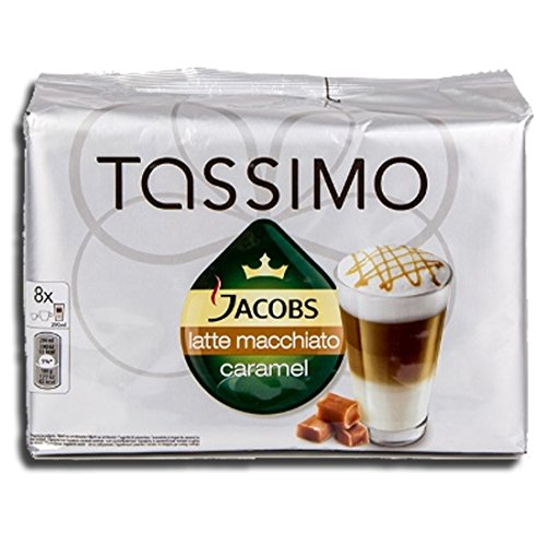 Shop for Factory Sealed Pack Tassimo T-Disc Pods Jacobs Caramel Latte Macchiato Coffee - 8 Servings - Includes Creamer Pods - Tassimo