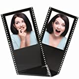 Black Acrylic Film Strip Standing Wallet Size Photo Frame, Holds Two 2.5