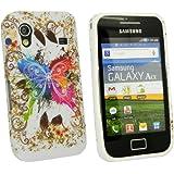 Kit Me Out DE - Samsung Galaxy Ace S5830 Android Hülle / Deckel / Schutzhülle / Etui Schutz en Gel TPU Coloured Schmetterling Butterfly