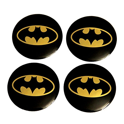 INCART Car Wheel Hub Centre Cover Stickers Original Car Tire Pack Mark Sticker Paster Fashion Style Cool Batman Black Φ5.6cm 4Pcs/set (Tire Cover Batman compare prices)