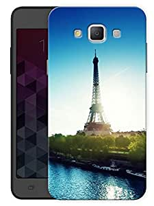 "Humor Gang Paris Eiffel Tower Beautiful Printed Designer Mobile Back Cover For ""Samsung Galaxy E7"" (3D, Matte, Premium Quality Snap On Case)"