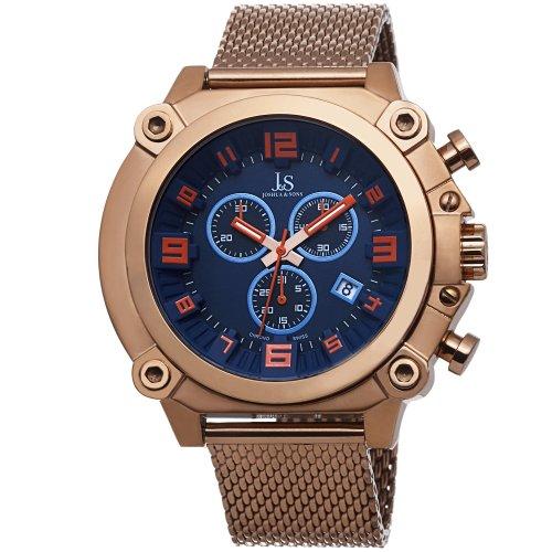 Joshua & Sons Reloj con movimiento cuarzo suizo JS58RG Rosado 50  mm