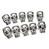 10pcs/lot Skull Beads For Paracord Strand Bracelet Lanyard Necklace Pendant Key Charm DIY Craft