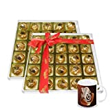 Chocholik's Perfect Combination Of Almond And Fruit & Nut Chocolate Truffles With Diwali Special Coffee Mug -...