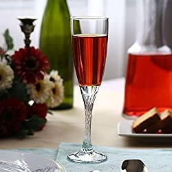 Pasabahce Twist Glass Champagne Flute,150 ml,Set of 6,Clear