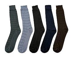 Mikado Multi Colour Cotton Full Length Socks for Men - 10 Pair Pack