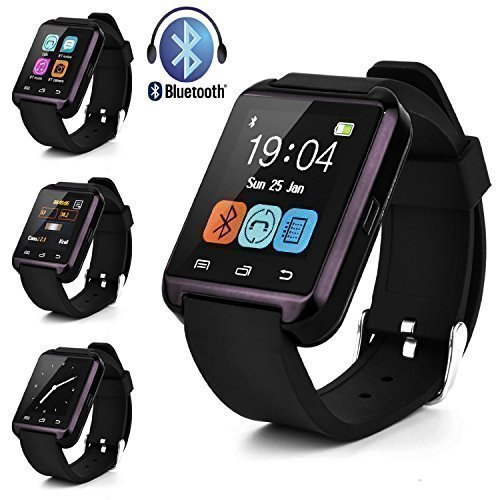 Uwatch, Acelectronic U8 1,48-Zoll Touch Screen Bluetooth Smart Handgelenk Watch U Watch Phone Mate für iOS Android Smartphones (schwarz)