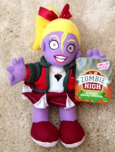 "Zombie High 12"" Tall Blonde Cheerleader Zombie Plush Doll By Sugar Loaf - 1"