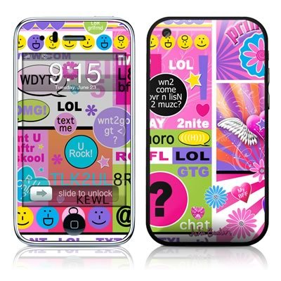 BFF Girl Talk Design Protector Skin Decal Sticker for Apple 3G iPhone / iPhone 3GS 3G S