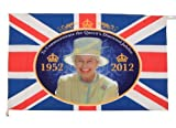 "#7: The Queen's Diamond Jubilee 36"" Wide Commemorative Flag 36"" x 24"""