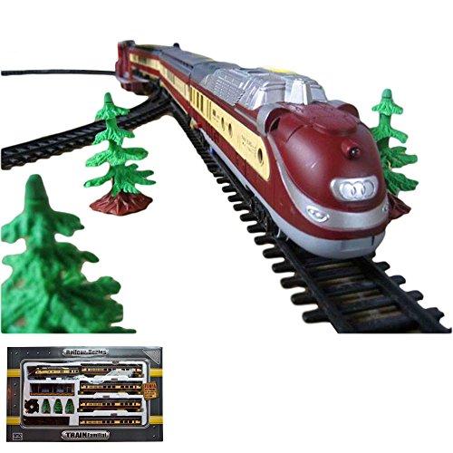 Elektrische-Eisenbahn-Zug-Dampf-Lok-mit-ber-10-Meter-Strecke-viel-Zubehr-und-Soundsimulation-Modell-Lokomotive-Neu