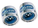 "Bearing Buddy 42202 Chrome Bearing Protector with Level Indicator - 1.980"" Diameter, Pair"