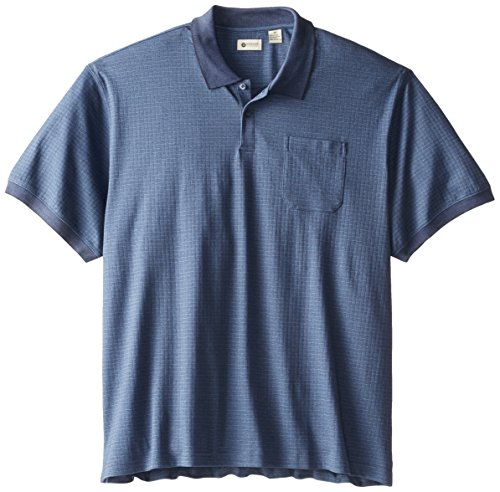 haggar men 39 s big tall short sleeve mini box polo shirt