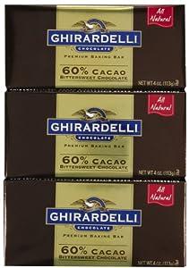 Ghirardelli Chocolate 60% Cacao Bittersweet Chocolate Baking Bar , 4 oz.