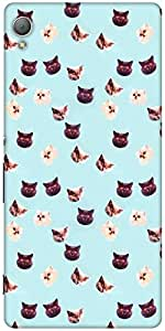 Snoogg Hypno Cats Designer Protective Back Case Cover For Sony Xperia Z4
