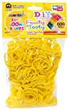 D.I.Y. Do it Yourself Bracelet Zupa Loomi Bandz 600 Fruity Tooty Yellow Banana Scented Rubber Bands with S Clips