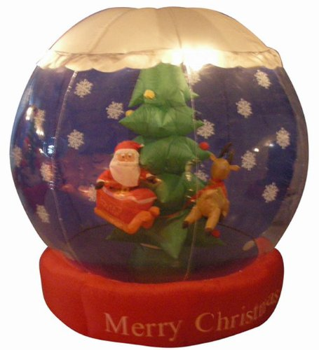 6' Airblown Inflatable Animated Santa Snow Globe
