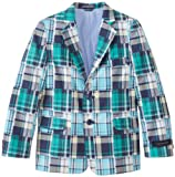 Tommy Hilfiger Boys 2-7 Patchwork Blazer, Blizzard Blue, 7