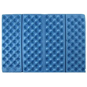 Blue Foldable Folding Foam Waterproof Chair Cushion Seat Pads by Amico
