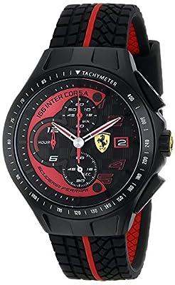 Ferrari Men's 0830077 Race Day Analog Display Quartz Black Watch