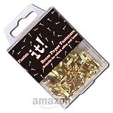 Brass Paper Fasteners 20mm Long Pack of 40 Fasten It brand