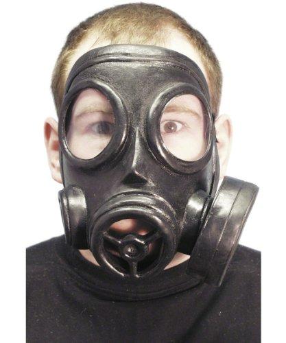 Gasmaske Gas Maske Kostüm - der Partygag - Karneval Fasching Weichgummi