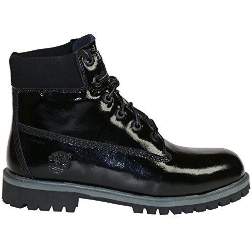 Timberland 6 Inch Premium Waterproof (Big Kids) Boots (6, Black Shine)