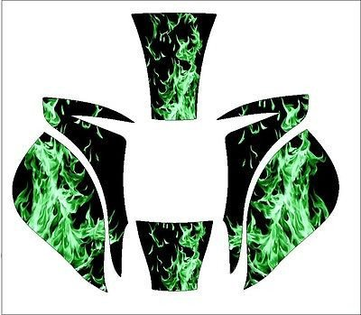 MILLER-ELITE-WELDING-HELMET-WRAP-DECAL-STICKER-SKINS-A3-Green-Skull-Flame