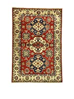 Eden Carpets Alfombra Uzebekistan Rojo/Crema/Azul 153 x 104 cm