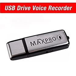 MaxPro- USB Flash Drive- USB Voice Recorder- Memory Stick- Thumb Drive- Dictaphone- 8GB - Compatible with Windows, Mac, PC- Manual- 1 Year Warranty