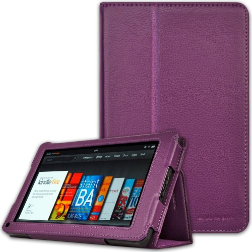 CaseCrown Bold Standby Case (Purple) for Amazon Kindle Fire Tablet (Not Compatible with Kindle Fire HD 7)