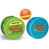 O'Keeffe's Working Hands 6.8oz Value Size Jar - Healthy Feet Cream 3.2oz Jar, Combo Set