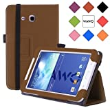 WAWO Samsung Tab 3 Lite 7.0 Inch Tablet Folio Case Cover - brown