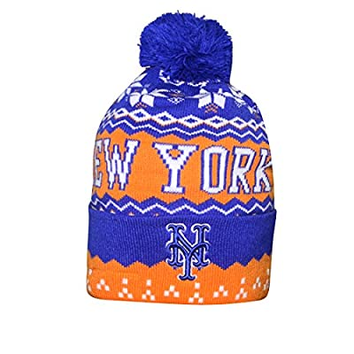 Adult MLB - NEW YORK METS Winter Hat / Beanie with Removable Pom Pom