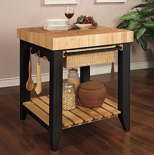 buy low price powell color story butcher block kitchen