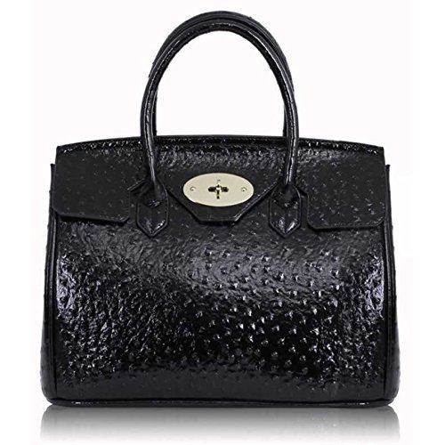 Womens Ostrich Handbags Ladies Shoulder Bags Designer Faux Leather Celebrity Style Tote