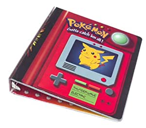 Pokemon Trading Card 3-ring Binder: Pikachu