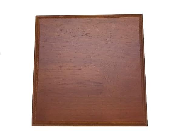 Luna Bean Wooden Platform Base Display Walnut Finish for Casting Kits - Solid Wood Plaque - 8 Square (Tamaño: 8 Square)