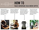 Cold Brew Coffee Maker - 32 oz. Iced Coffee Glass Pitcher with Removable Filter - Makes 4-5 cups of Cold Coffee