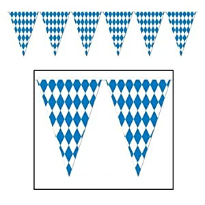Beistle 57775 Oktoberfest Pennant Banner, 17 by 120-Feet by The Beistle Company